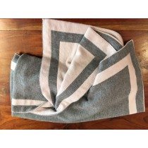 coperta aletta grigia e rosa
